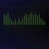 Sound equalizer stock illustration