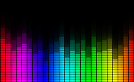Sound equalizer Stock Image