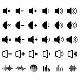 Sound and Equalizer Icon. Set for your design Stock Images