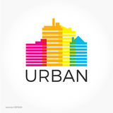 Sound equalizer symbol logo. City urban sounds. Stock Photos