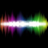 Sound Equalizer Wave Abstract Background. Vector Stock Images