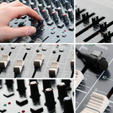 Sound Equipment Collage Stock Photography