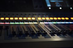 sound equipment at the concert royalty free stock photography