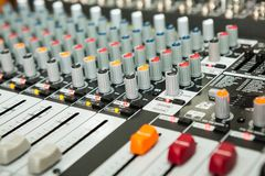 Sound equipment with details. And colors Stock Image