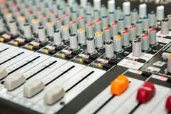 Sound equipment with details. And texture Royalty Free Stock Photography