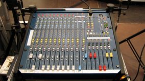 Sound equipment. mixing desk. sound control unit Stock Photos