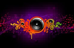 sound färgstänk Arkivfoto
