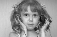 Sound-girl. An image of girl listening to music Stock Images
