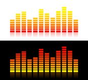 Sound graphs (Orange variant). Illustration of moving sound graphs(Orange variant Royalty Free Stock Photos
