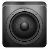 sound högtalare för symbol Royaltyfri Foto