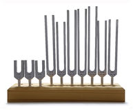 Sound Healer's Tuning Forks Stock Photo