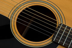 Sound hole. Of an acustic guitar Stock Images