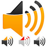 Sound icon Royalty Free Stock Photos
