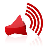 Sound icon. Illustration of sound icon on isolated background Royalty Free Stock Images