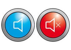 Sound icon. On and off. Stock Photo