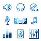 Sound icons Royalty Free Stock Photos