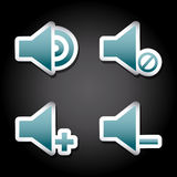 Sound icons Stock Images