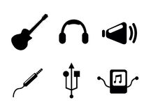 Sound icons Stock Image