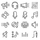 Sound icons set . Royalty Free Stock Photography