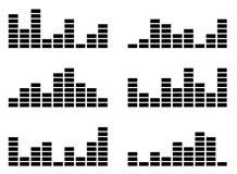 Sound indicator equalizer Royalty Free Stock Image