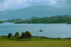 Sound of Iona, Scotland. Sound of Iona looking towards Mull in Scotland Royalty Free Stock Images