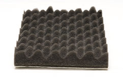Sound isolation foam. On white background Royalty Free Stock Photography