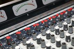 Sound  knobs with  meter Stock Photos