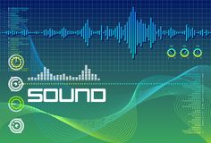 Sound Lab Seagreen royalty free illustration