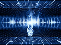 Sound landscape Royalty Free Stock Photos