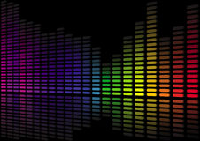 Sound level abstract 3D Royalty Free Stock Photos