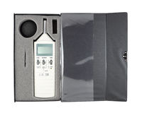 Sound level meter. In box (with clipping path stock images