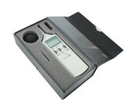 Sound level meter in box. (with clipping path royalty free stock images