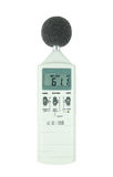 Sound level meter. (display show low level) on white background royalty free stock photo