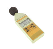 Sound level meter on white background. Old sound level meter on white background royalty free stock photo
