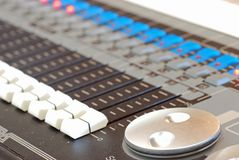 Sound and light board Royalty Free Stock Photos
