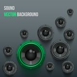 Sound Load Speakers on dark background. Stock Photography