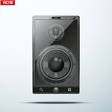 Sound Load speakers Dynamics inside a mobile phone Stock Images