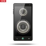 Sound Load speakers Dynamics inside a mobile phone Royalty Free Stock Images