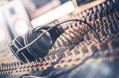 Sound Mastering Mixer Royalty Free Stock Photo
