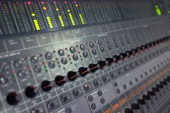 Sound Mastering Table Stock Photo