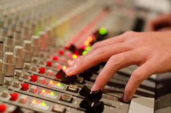 Sound mix board Royalty Free Stock Images