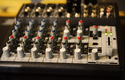 Sound mix board Royalty Free Stock Photos