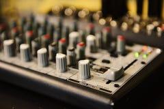 Sound mixbräde Arkivfoto