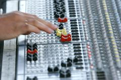 Sound mixer. Close up of sound mixer Royalty Free Stock Photos