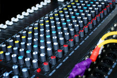Sound mixer. Pro sound mixer panel for dj use Stock Images
