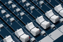Sound mixer. Low angle shot with shallow DOF, useful for various music and sound themes Stock Images