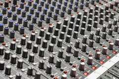 Sound mixer. Useful for various music and sound themes Royalty Free Stock Photo