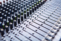 Sound mixer. Professional sound mixer control panel Stock Photo
