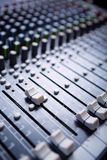 Sound mixer. Professional sound mixer control panel Royalty Free Stock Image