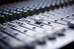 Sound mixer. Professional sound mixer control panel Stock Photos